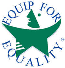 Logo of Equip for Equality, the Illinois Protection and Advocacy organization for people with disabilities.
