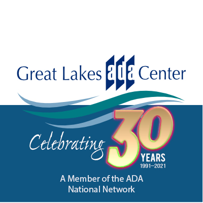 Great Lakes ADA Center logo above the words Celebrating 30 Years