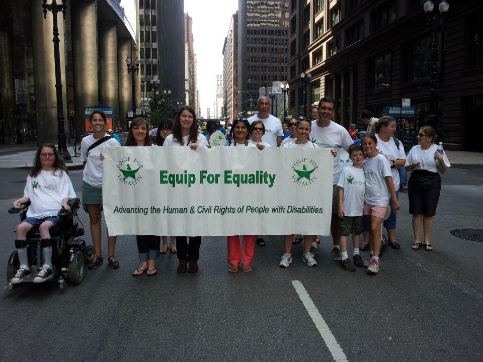 Our staff and supporters at the Disability Pride Parade