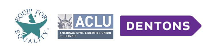 Logos for EFE, ACLU, and Dentons