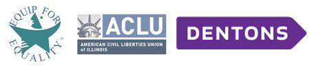 Logos of EFE, ACLU, and Dentons
