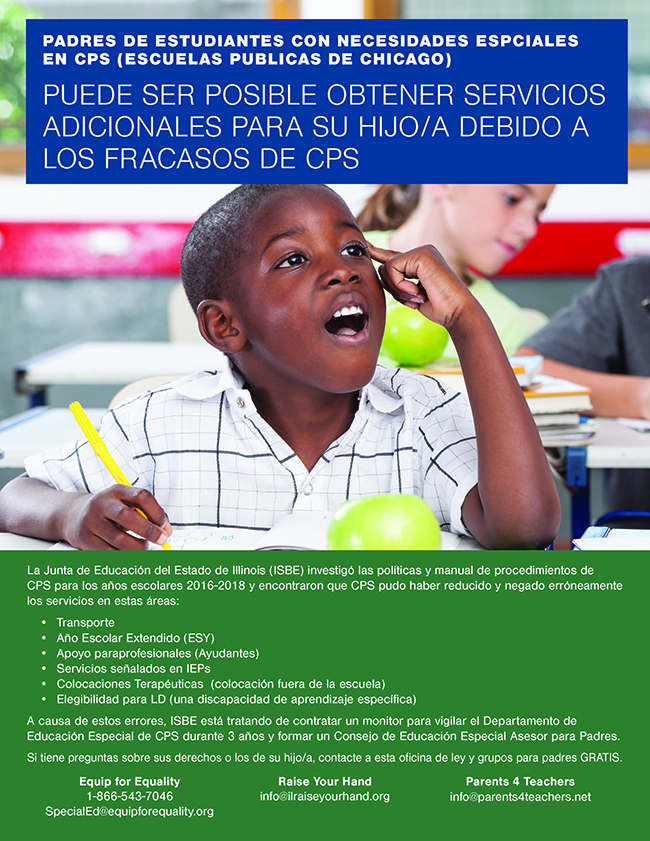 Image of flyer - African American boy at desk.