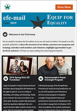 Screenshot of EFE's newsletter