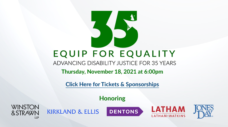 Image of EFEs 35th Anniversary logo. Words read, click here for tickets & sponsorships. Below all this is the word